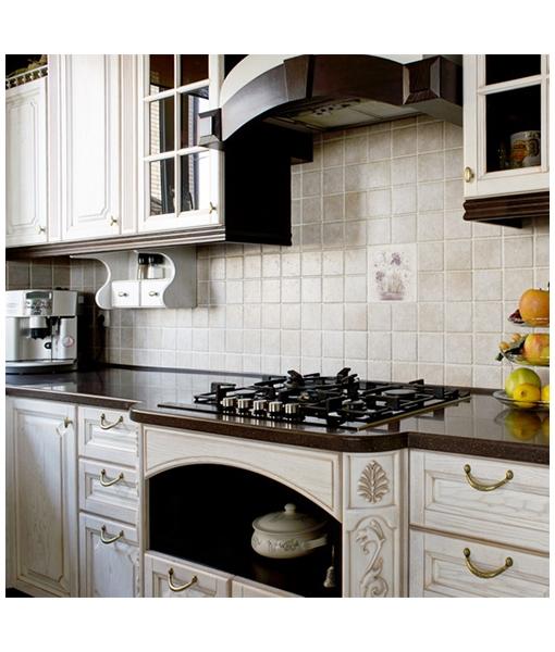 """Кухня """"Белый, патина желтая"""""""