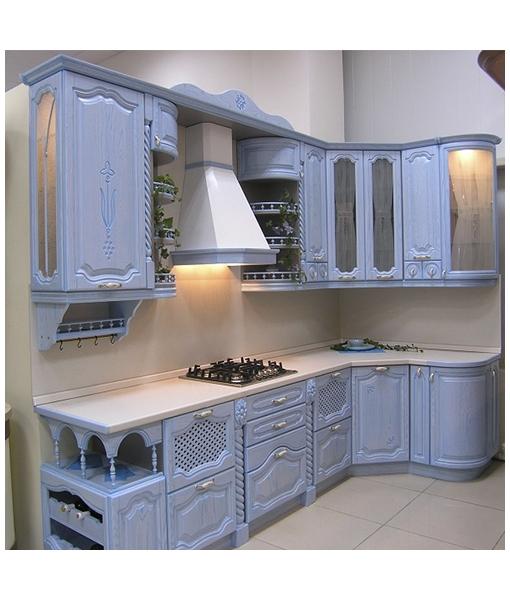 """Кухня Ясень """"Голубая лагуна"""""""